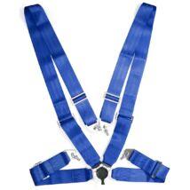 """Négypontos,körcsatos 3""""széles biztonsági öv(kék)"""